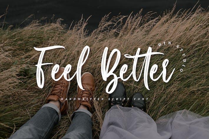 Thumbnail for Feel Better-Elegant Handwritten Font