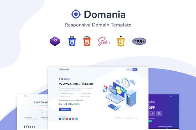 Domania - Responsive Domain Template