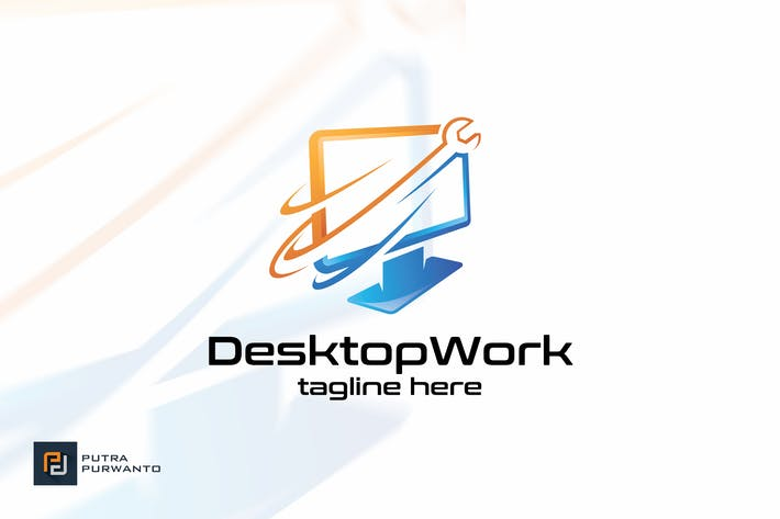 Cover Image For Desktop Work - Logo Template