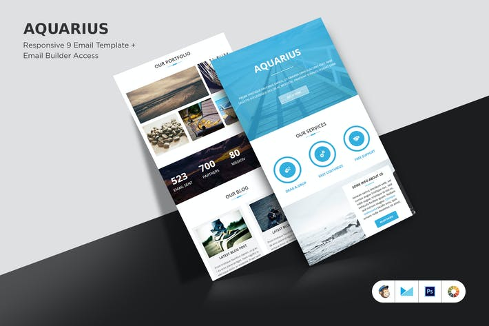 Thumbnail for Aquarius Email Template