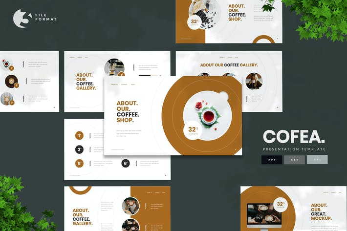 Thumbnail for Cofea - Шаблон презентации кофе