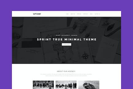 Sprint - Minimal Responsive HTML Portfolio