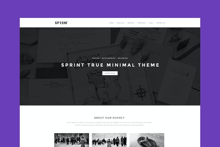 Thumbnail for Sprint - Minimal Responsive HTML Portfolio