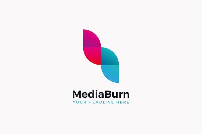 Cover Image For Media Burn Logo Template