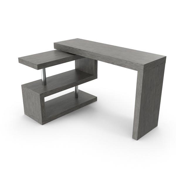 Современный письменный стол L-формы