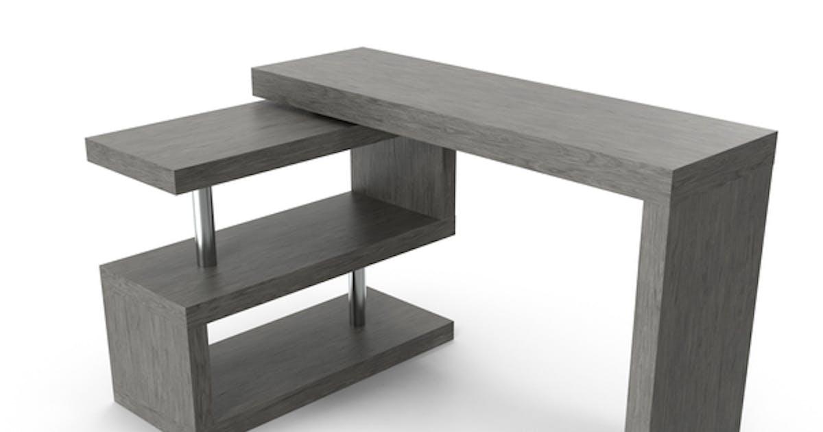 contemporary modern l shape desk by pixelsquid360 on envato elements contemporary modern l shape desk by