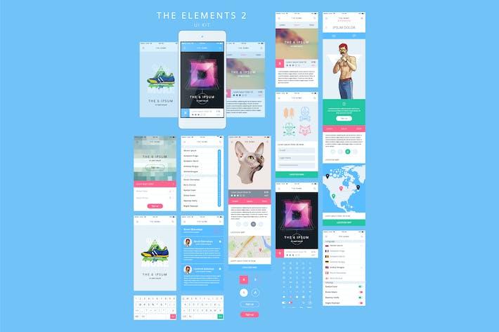 Thumbnail for Шаблон графического интерфейса телефона. Каркас UI Kit.