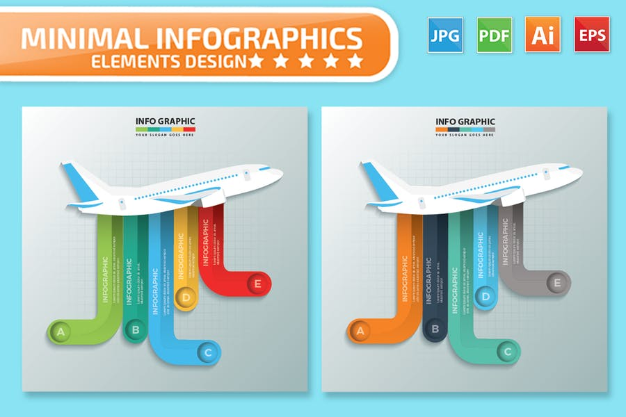 Airplane Infographics Design