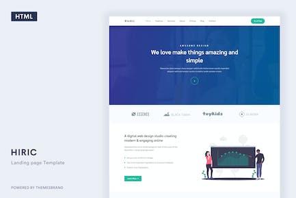 Hiric - Responsive Landing Page Template
