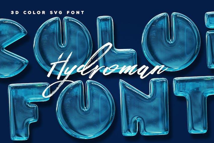 Thumbnail for Hydroman Color Font
