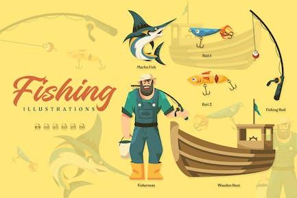 Fishing - Illustrations