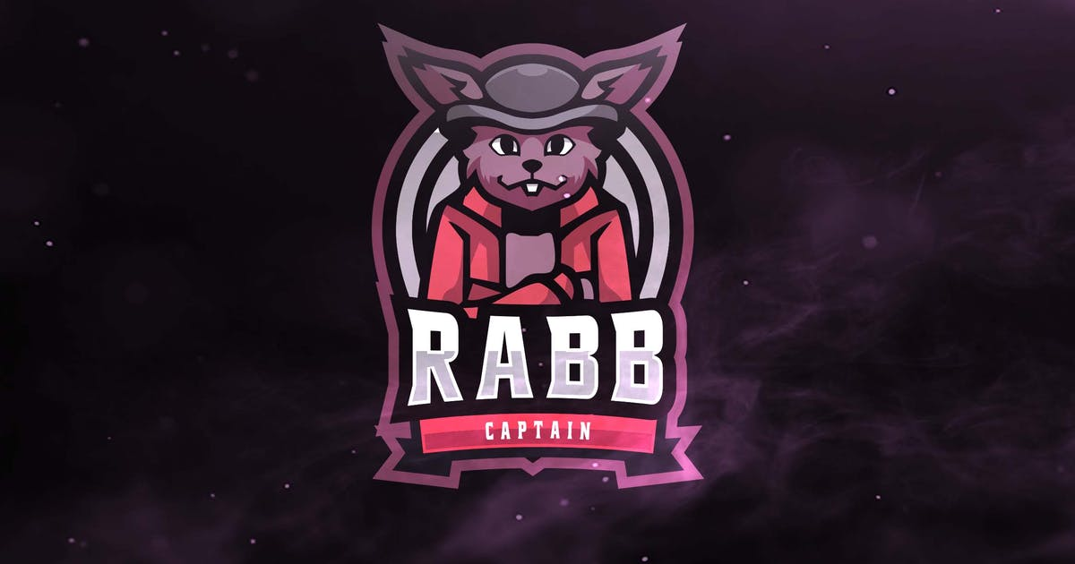 Download Rabb Captain Sport and Esports Logo by ovozdigital