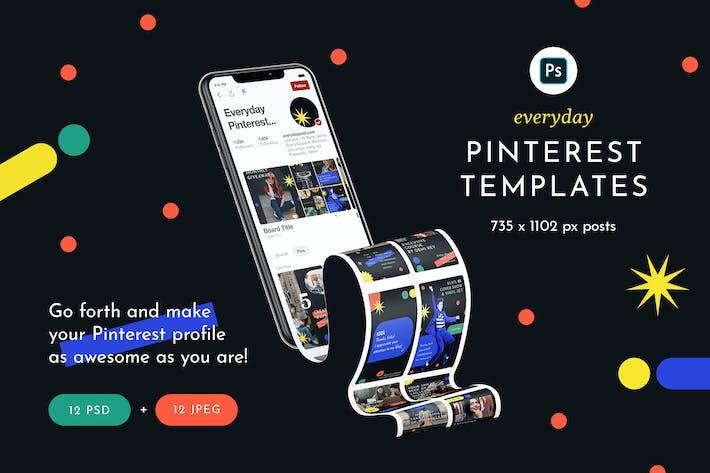 Thumbnail for Pinterest-Vorlagen für jeden Tag