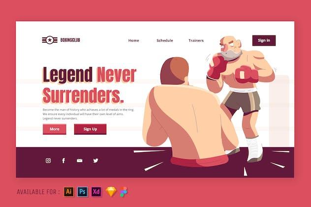The Legend Boxer - Web Illustration