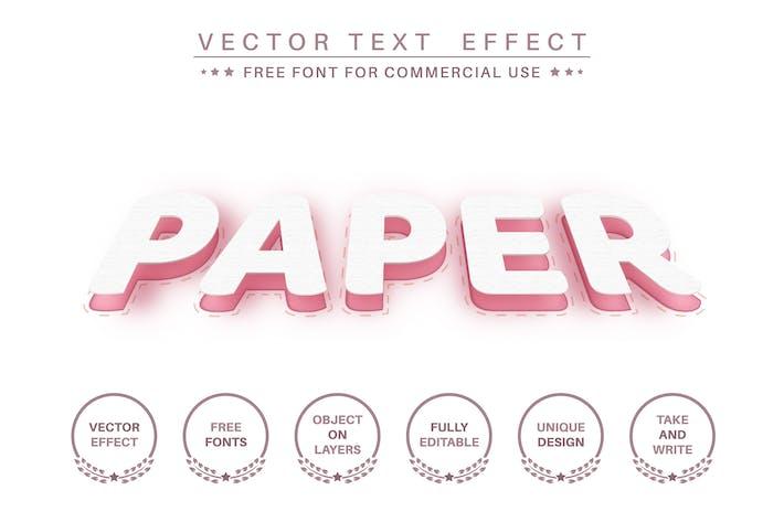 Slice paper - редактируемый текстовый эффект, стиль шрифта