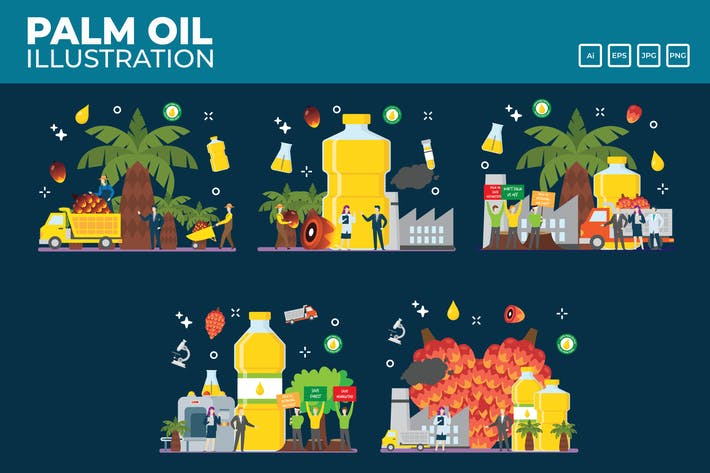 Thumbnail for Palm Oil pnantation and Industry vector