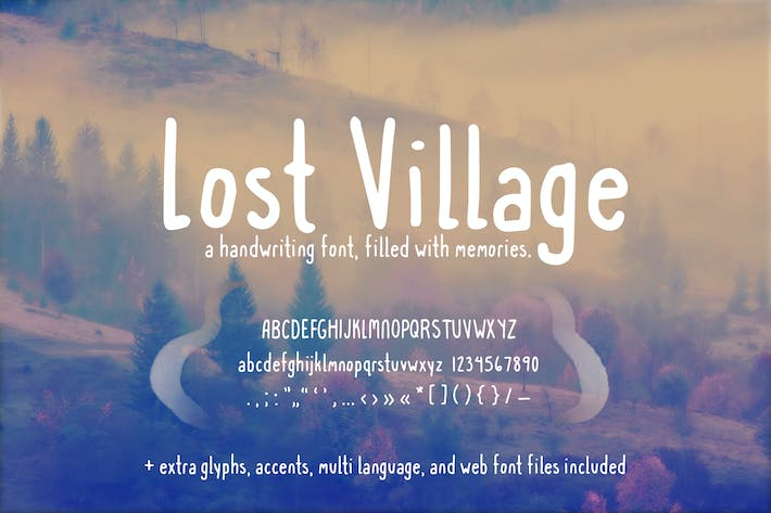 Police d'écriture manuscrite Lost Village (+ polices Web)