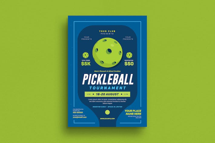 Thumbnail for Pickleball Tournament Event Flyer