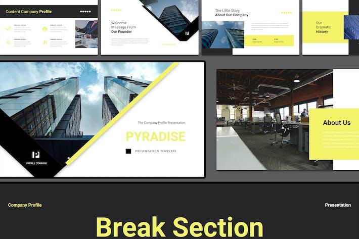 Pyradise - Шаблон Keynote профиля компании