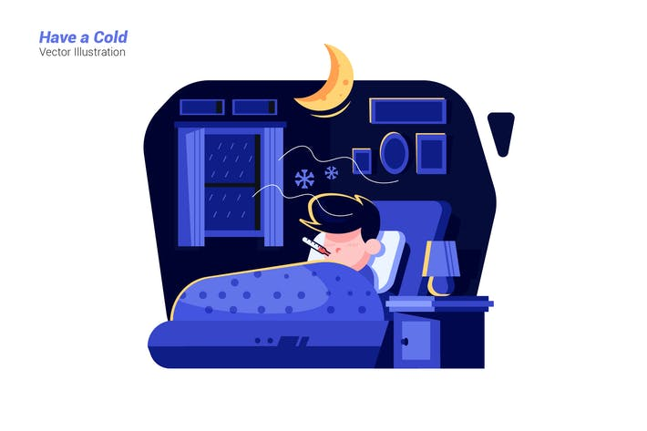 Have a Cold - Vector Illustration