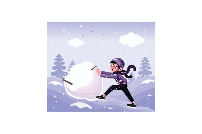 Thumbnail for The Child Rolls a Big Snowball