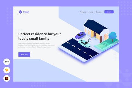 Perfekte Residenz - Website Header - illsutartion