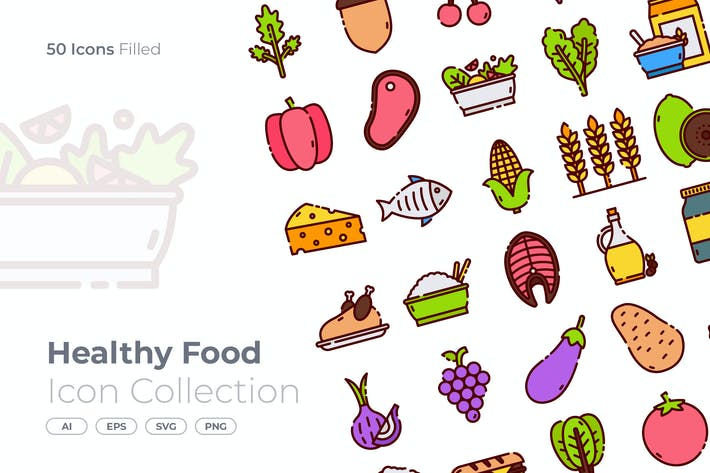 Thumbnail for Healthy Food Filled Icon