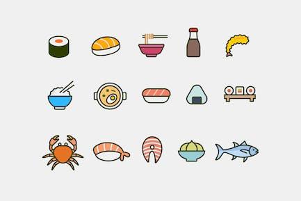 15 Japanese Food Icons