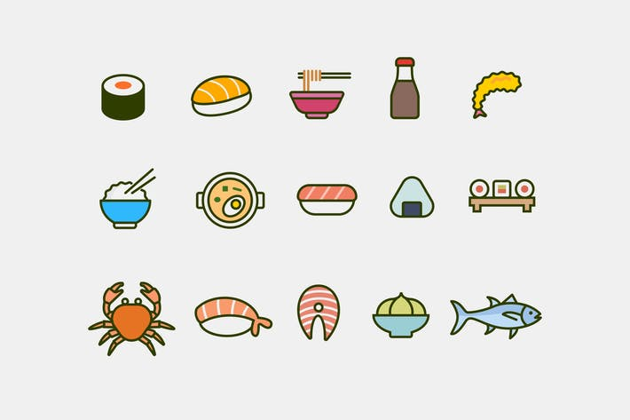 Thumbnail for 15 Japanese Food Icons