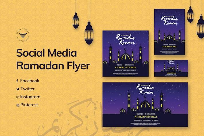 Cover Image For Modèle de médias sociaux du Ramadan
