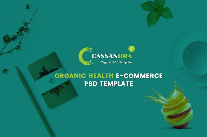 Thumbnail for Cassandra - Organic Health e-commerce PSD Template