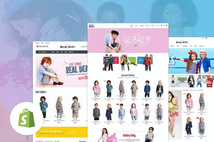 Thumbnail for HappyChild | Multi Store Responsive Shopify Thème