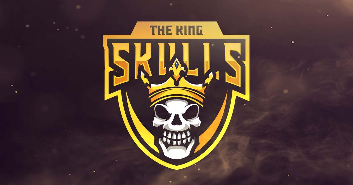 Download The King Skulls Sport and Esports Logo by ovozdigital