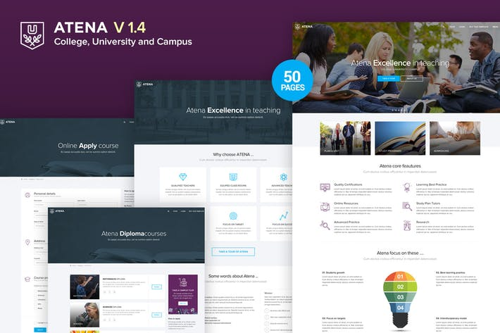 Thumbnail for Atena - College, University and Campus Template