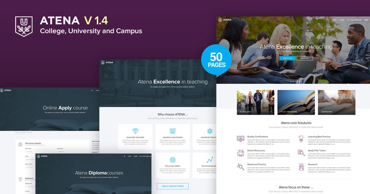 Download Atena - College, University and Campus Template by Ansonika