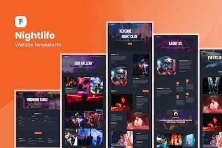 Modèle de site Web de boîte de nuit