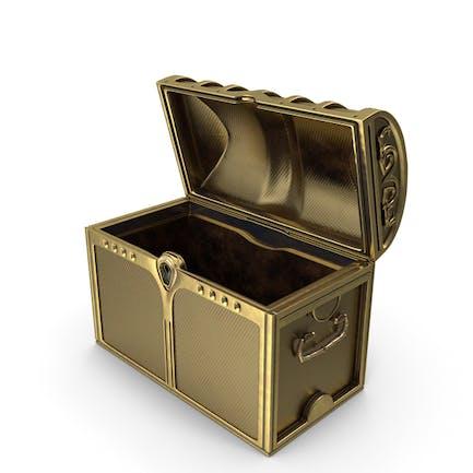 Cofre dorado abierto