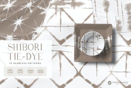 Shibori Tie Dye Nahtlose Muster