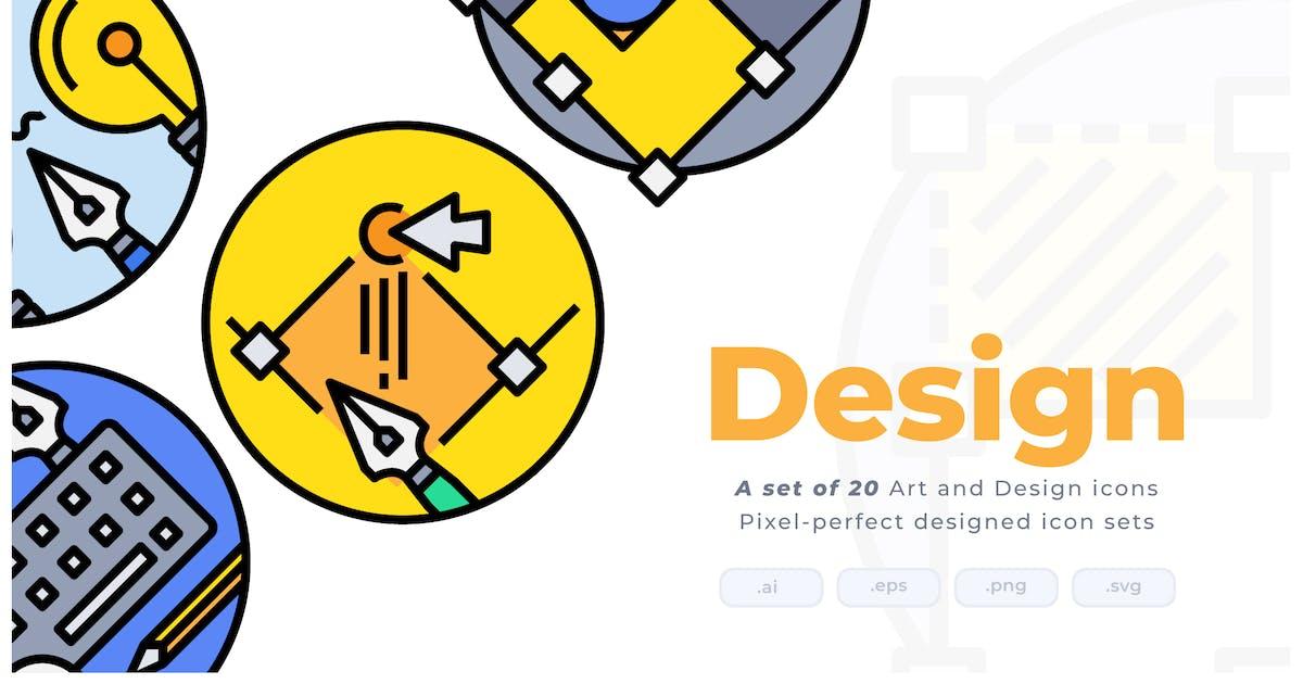 Download 20 Art and Design Colorline Circular Icon set by Justicon