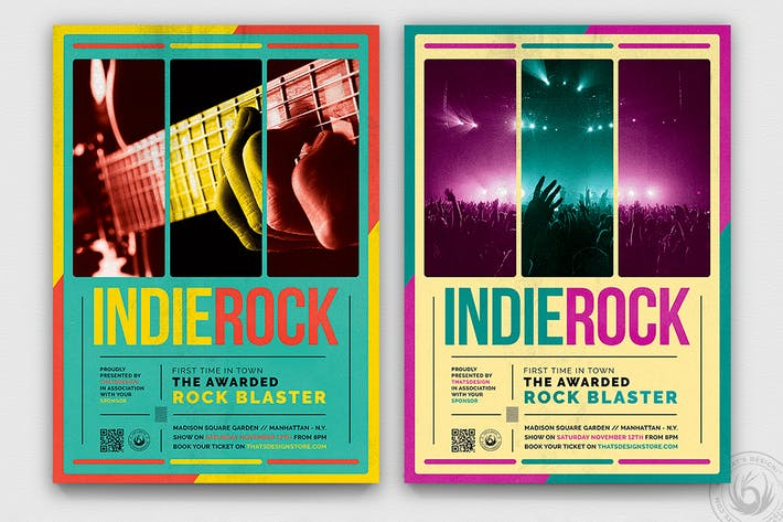 Thumbnail for Indie Rock Flyer Template V2