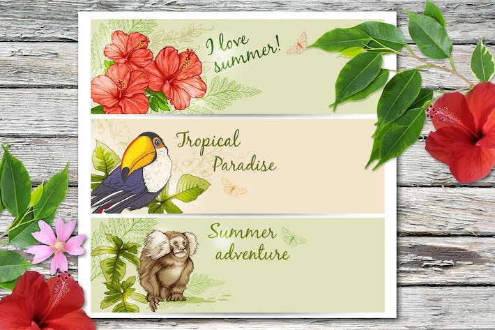 Thumbnail for Summer Tropical Banners