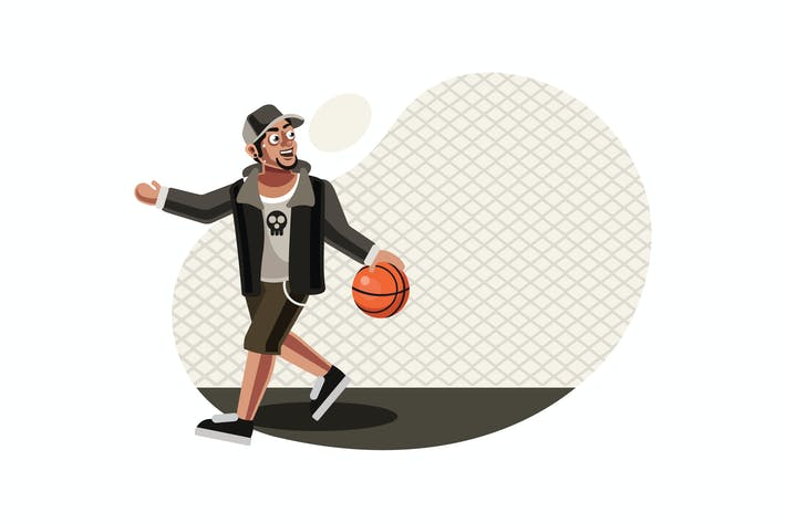 Cover Image For Street basketball player