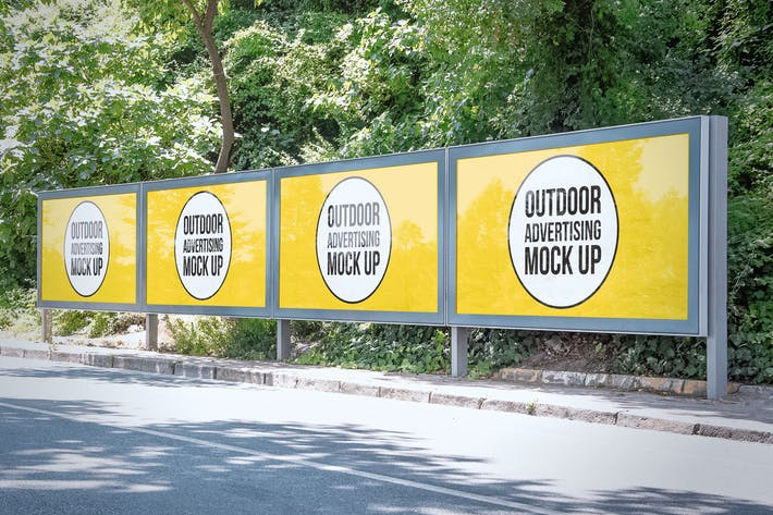 Thumbnail for Outdoor Advertisement Mockup Template #1
