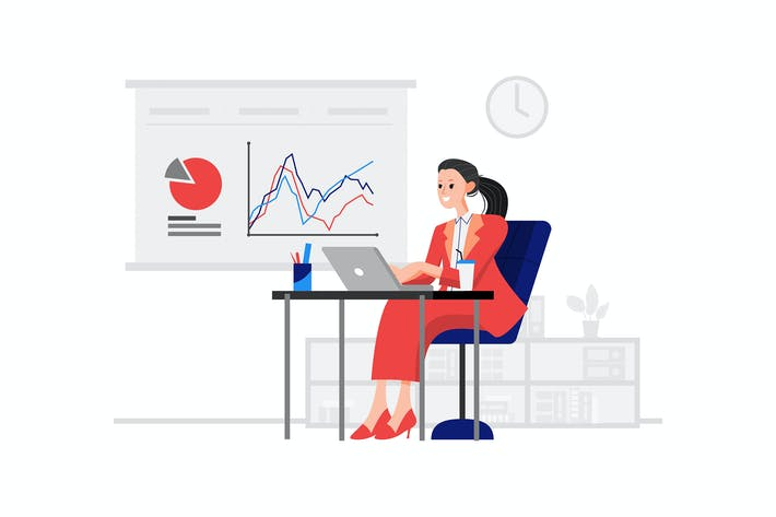 Thumbnail for Ein Manager sitzt vor dem Laptop