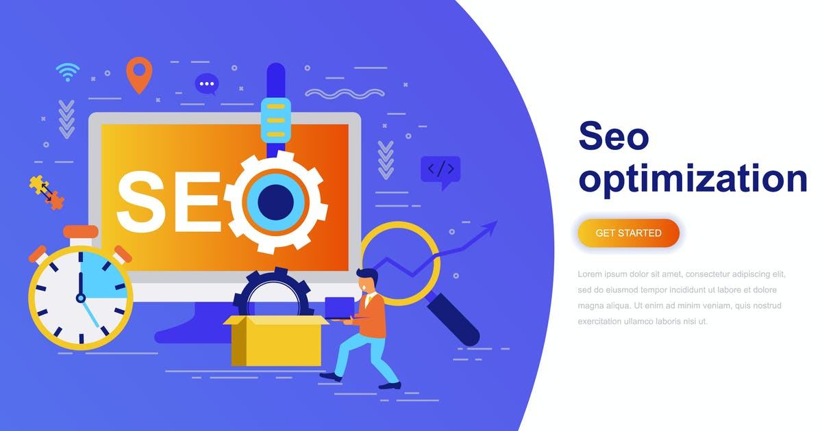 Download Seo Optimization Modern Flat Concept by alexdndz