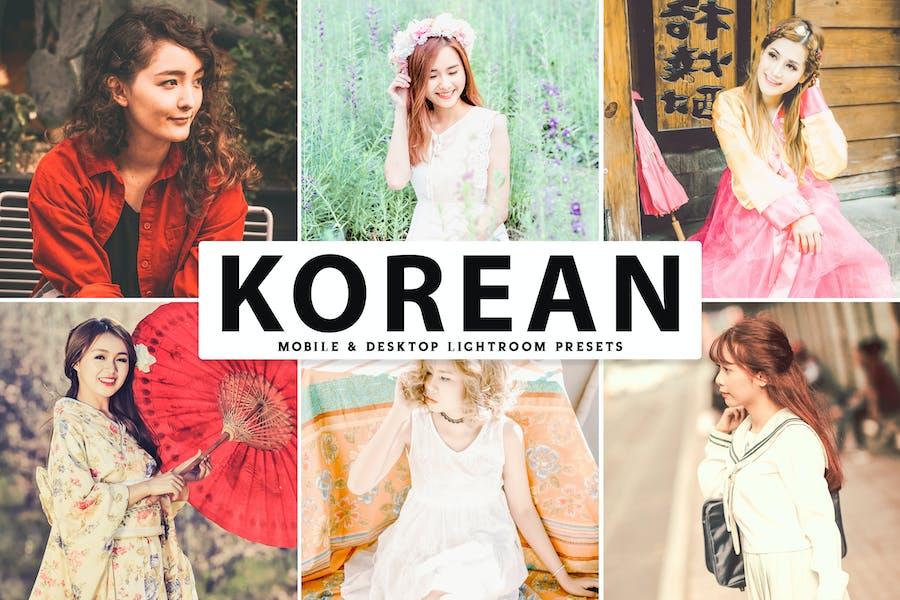 Корейские Пресеты Lightroom для мобильных и настольных ПК