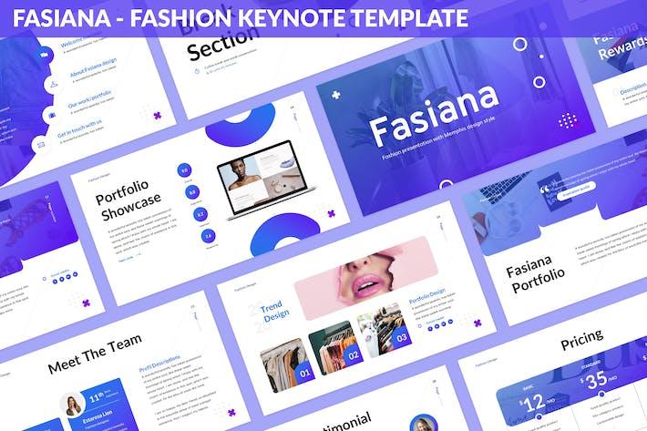 Thumbnail for Fasiana - Fashion Keynote Template