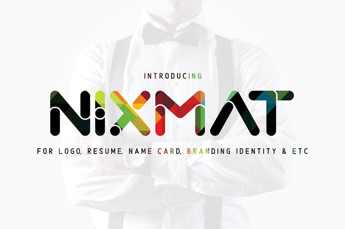 Thumbnail for Nixmat | A Brand Identity Font