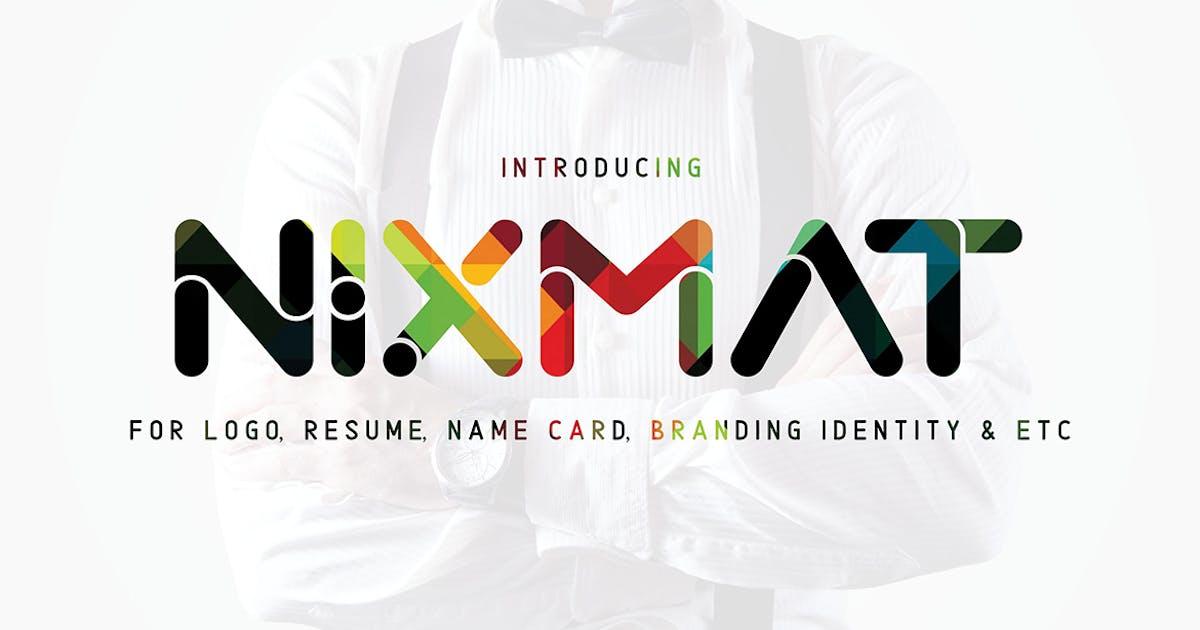 Download Nixmat   A Brand Identity Font by sameehmedia