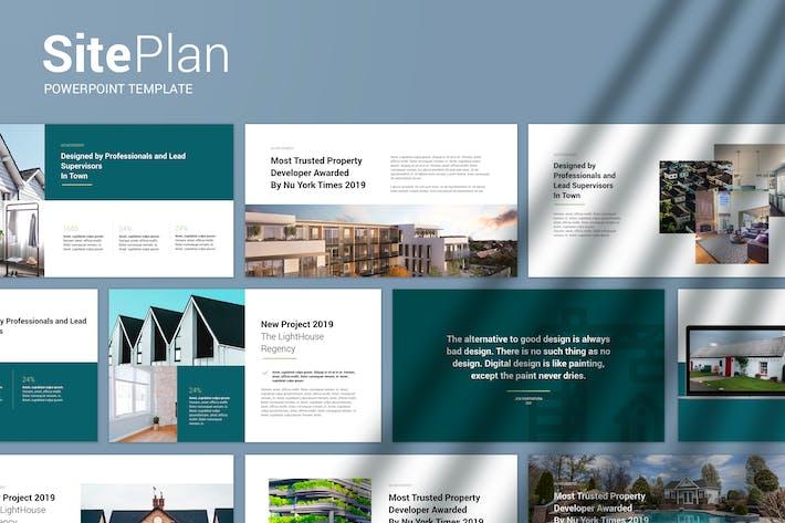 Thumbnail for План площадки — современный Шаблон Powerpoint